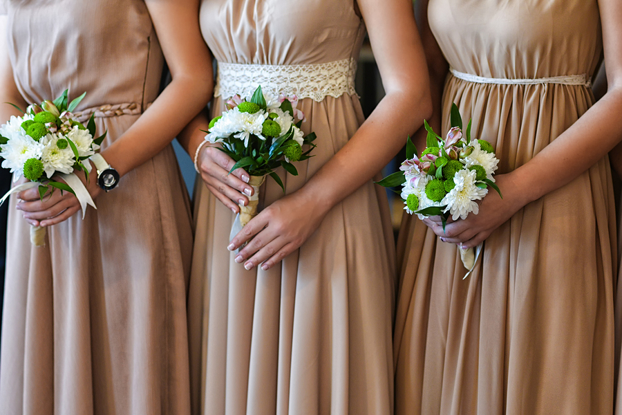 Heavy Bridesmaids Dresses