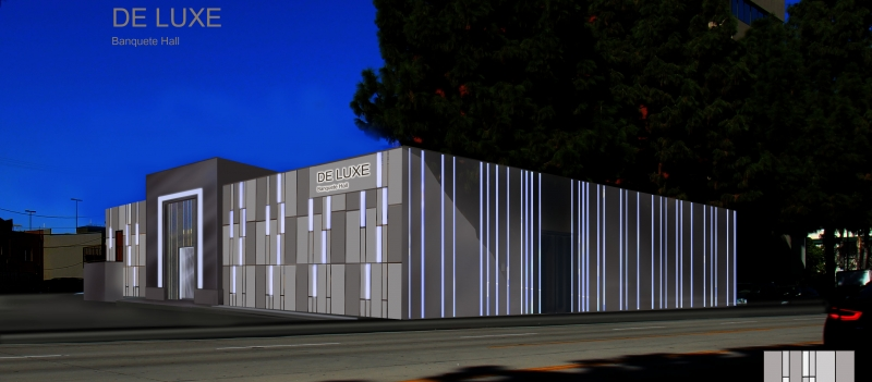 An Artist Rendering of De Luxe's New Exterior