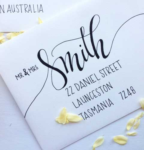 Tips For Wedding Calligraphy