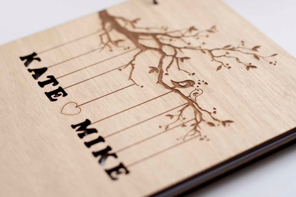 custom wedding book