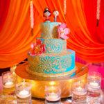 Wooden Dolls Wedding Cake Topper