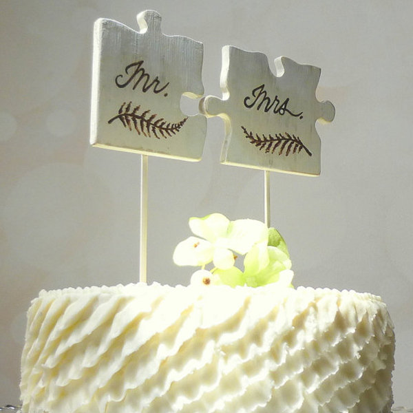 Puzzle Wedding Cake Topper