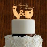 Two States Wedding Cake Topper