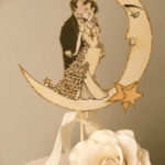 Vintage Moon Wedding Cake Topper