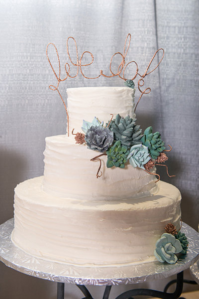 Lettered Wedding Cake Topper