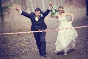 Wedding Reception Entrance Ideas - Finish Line