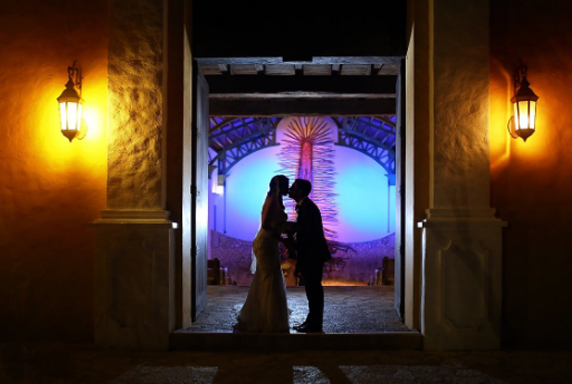 Wedding Reception Entrance - Silhouette