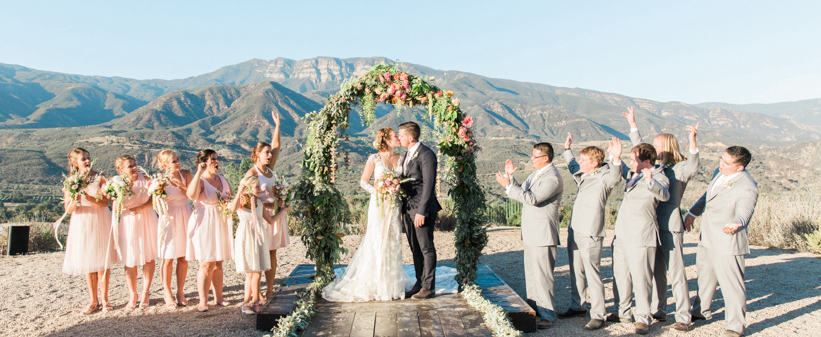 Outdoor Wedding Party - Bridesmaids and Groomsmen