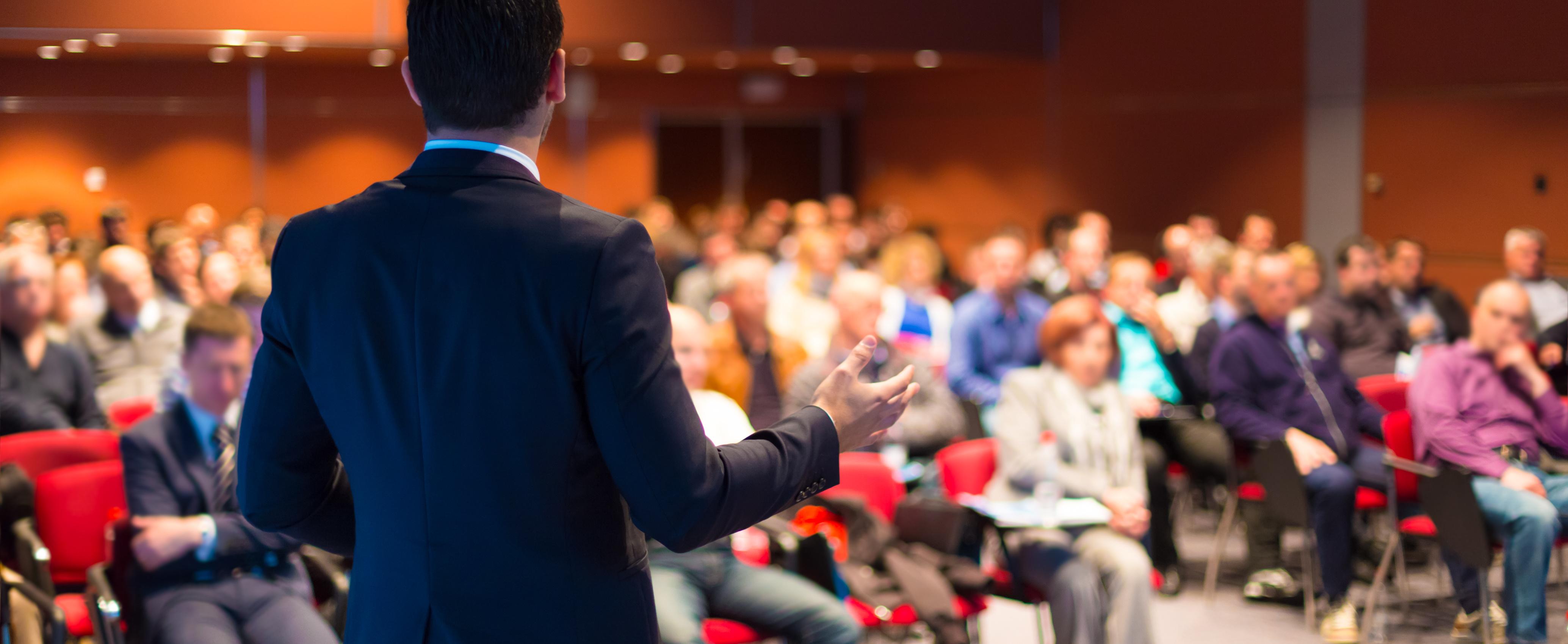 Speaker At Corporate Event