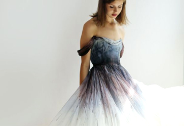 Breaking Wedding Dress Traditions - Dyed Gown