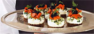 De Luxe Event Venue Catering - Hors D'oeuvres