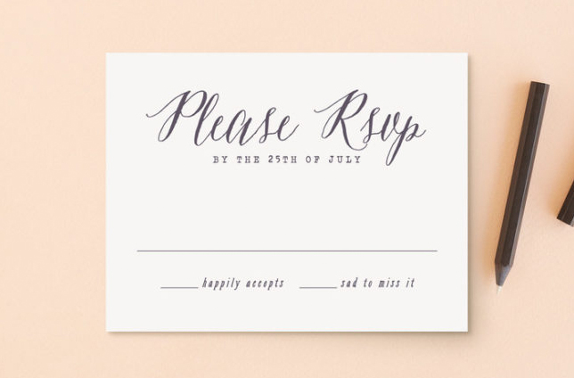 Wedding Planning Problems - RSVPs