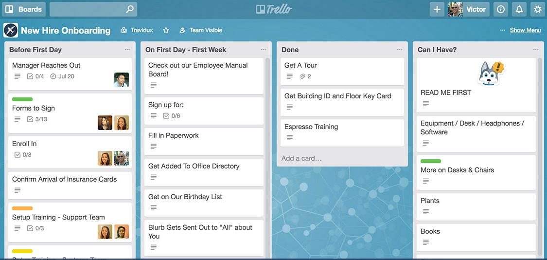 trello - best wedding apps