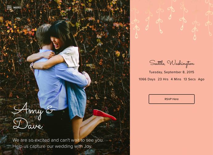 Good Wedding Websites - Style Options