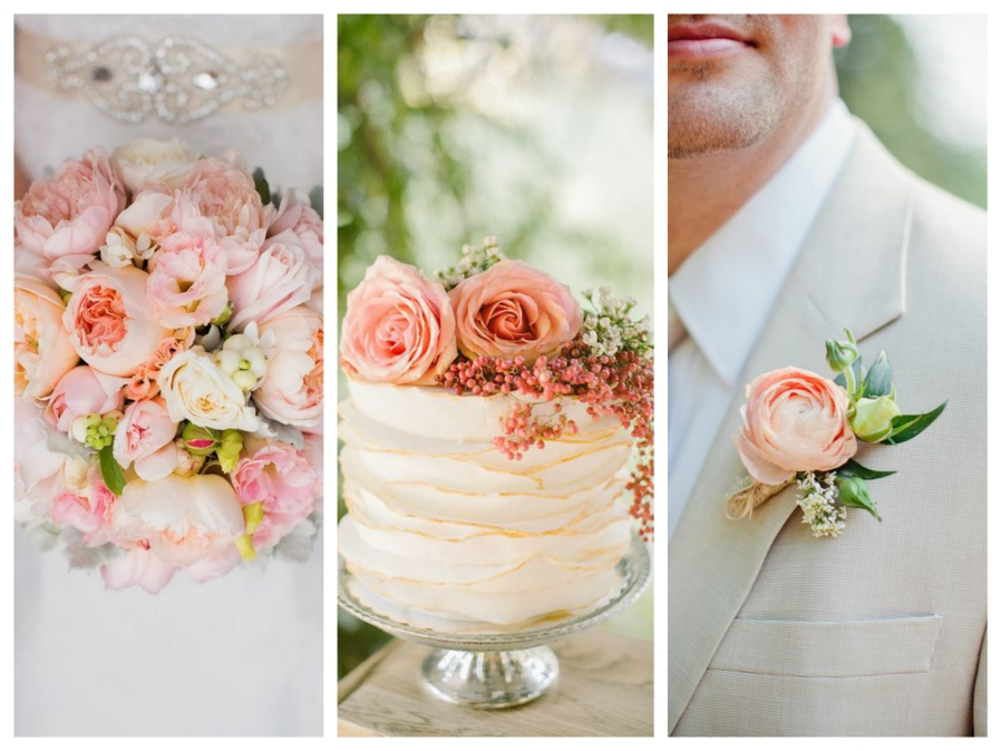 peach themes for spring wedding color palette