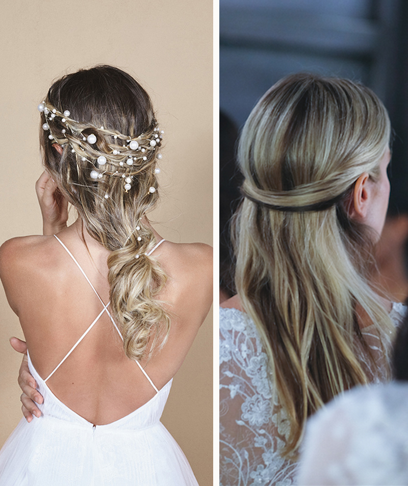 2019 Bridal Hair Trends - Long Half Up Styles