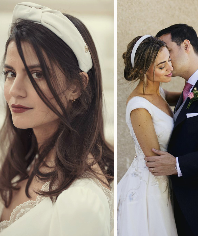 2019 Bridal Hair Trends - White Headbands