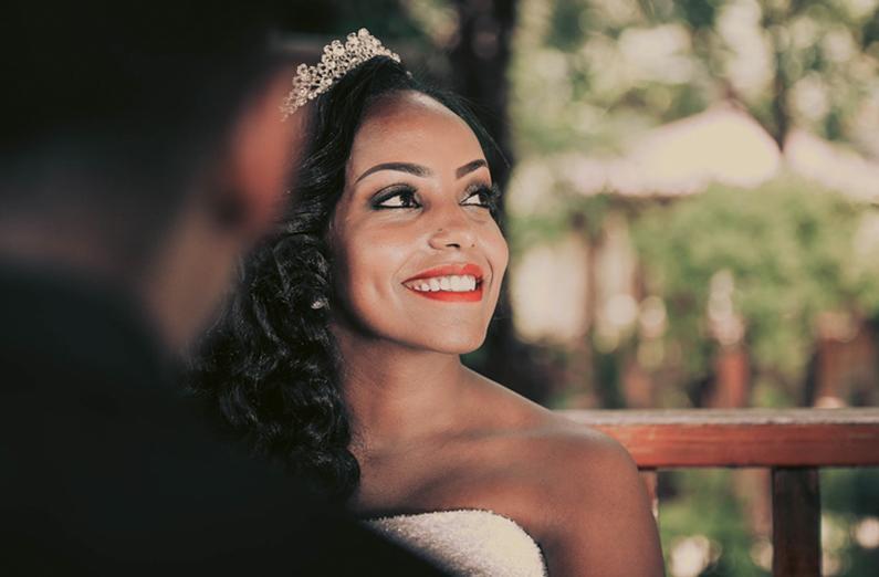 Wedding Makeup - Smiling Bride With Tiara