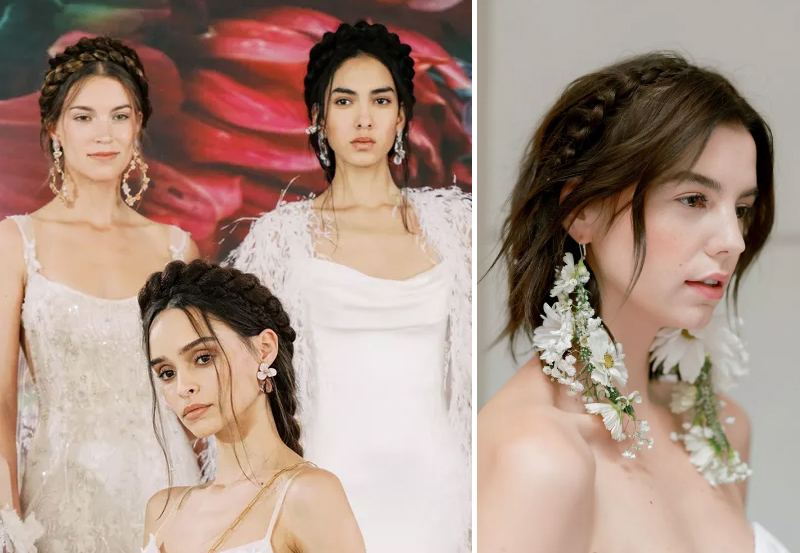 2020 Bridal Hair Trends - Crown Braids