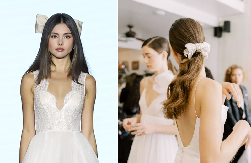 2020 Bridal Hair Trends - Bows And Ribbons
