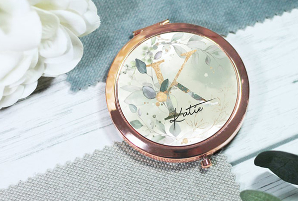 Honorary Bridesmaid Gifts - Customized Compact Mirror