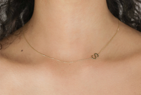 Honorary Bridesmaid Gifts - S Initial Necklace