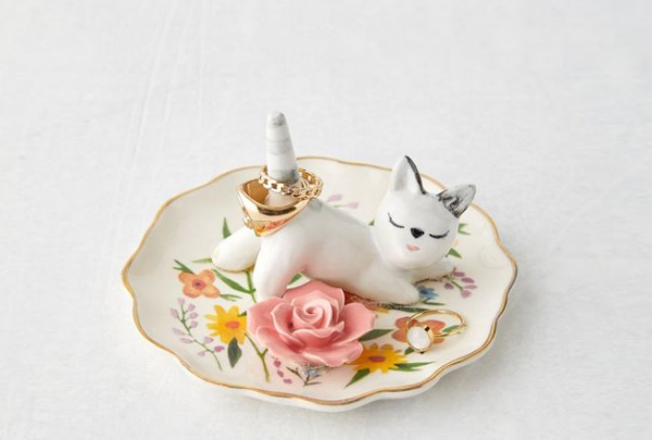 Honorary Bridesmaid Gifts - Cat Ring Holder